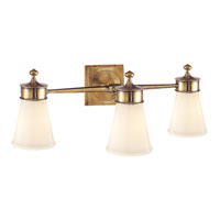 Visual Comfort Studio Siena 3 Light Bath Wall Light in Hand-Rubbed Antique Brass SS2003HAB-WG