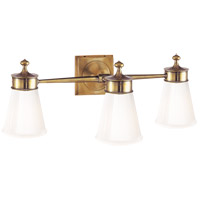 Visual Comfort SS2003HAB-WG Studio Siena 3 Light 23 inch Hand-Rubbed Antique Brass Bath Wall Light