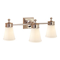 Visual Comfort Studio Siena 3 Light Bath Wall Light in Polished Nickel SS2003PN-WG
