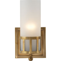 Visual Comfort Studio Openwork 1 Light Bath Wall Light in Hand-Rubbed Antique Brass SS2011HAB-FG
