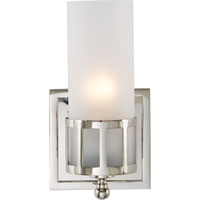 Visual Comfort Studio Openwork 1 Light Bath Wall Light in Polished Nickel SS2011PN-FG