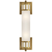 Visual Comfort SS2013HAB-FG Studio Openwork 2 Light 5 inch Hand-Rubbed Antique Brass Bath Wall Light in 18 in. W