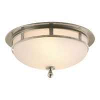 Visual Comfort Studio Openwork 2 Light Flush Mount in Antique Nickel SS4010AN-FG