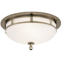 Visual Comfort SS4010AN-FG Studio Openwork 2 Light 10 inch Antique Nickel Flush Mount Ceiling Light