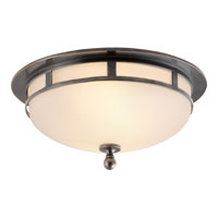 Studio Openwork 2 Light 10 inch Bronze Flush Mount Ceiling Light