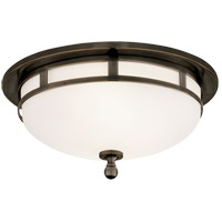 Visual Comfort SS4010BZ-FG Studio Openwork 2 Light 10 inch Bronze Flush Mount Ceiling Light