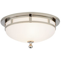 Visual Comfort SS4010CH-FG Studio Openwork 2 Light 10 inch Chrome Flush Mount Ceiling Light