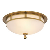Visual Comfort SS4010HAB-FG Studio Openwork 2 Light 10 inch Hand-Rubbed Antique Brass Flush Mount Ceiling Light
