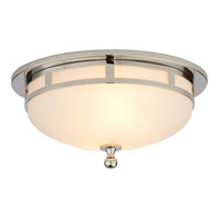 Studio Openwork 2 Light 10 inch Polished Nickel Flush Mount Ceiling Light