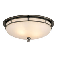Studio Openwork 2 Light 14 inch Bronze Flush Mount Ceiling Light