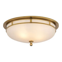 Visual Comfort Studio Openwork 2 Light Flush Mount in Hand-Rubbed Antique Brass SS4011HAB-FG