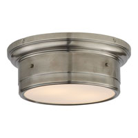 Visual Comfort SS4015AN-WG Studio Siena 2 Light 12 inch Antique Nickel Flush Mount Ceiling Light