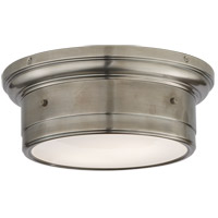 Studio Siena 2 Light 12 inch Antique Nickel Flush Mount Ceiling Light