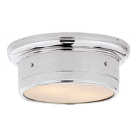 Studio Siena 2 Light 12 inch Chrome Flush Mount Ceiling Light