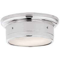Visual Comfort SS4015CH-WG Studio Siena 2 Light 12 inch Chrome Flush Mount Ceiling Light