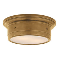 Visual Comfort Studio Siena 2 Light Flush Mount in Hand-Rubbed Antique Brass SS4015HAB-WG