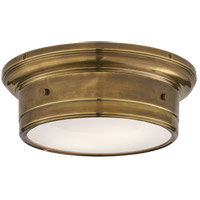 Studio Siena 2 Light 12 inch Hand-Rubbed Antique Brass Flush Mount Ceiling Light