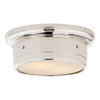 Visual Comfort Studio Siena 2 Light Flush Mount in Polished Nickel SS4015PN-WG