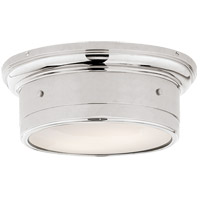 Studio Siena 2 Light 12 inch Polished Nickel Flush Mount Ceiling Light