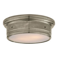 Studio Siena 2 Light 14 inch Antique Nickel Flush Mount Ceiling Light