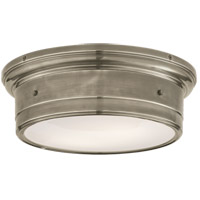 Visual Comfort SS4016AN-WG Studio Siena 2 Light 14 inch Antique Nickel Flush Mount Ceiling Light