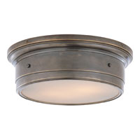 Visual Comfort Studio Siena 2 Light Flush Mount in Bronze with Wax SS4016BZ-WG