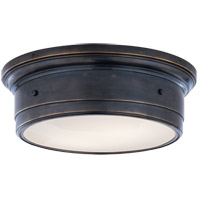 Studio Siena 2 Light 14 inch Bronze Flush Mount Ceiling Light
