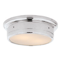 Studio Siena 2 Light 14 inch Chrome Flush Mount Ceiling Light