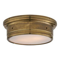 Visual Comfort Studio Siena 2 Light Flush Mount in Hand-Rubbed Antique Brass SS4016HAB-WG