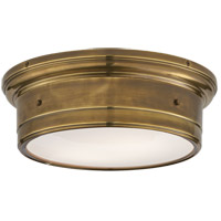 Visual Comfort SS4016HAB-WG Studio Siena 2 Light 14 inch Hand-Rubbed Antique Brass Flush Mount Ceiling Light