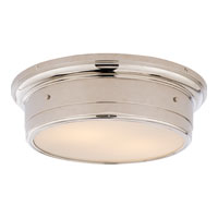 Visual Comfort Studio Siena 2 Light Flush Mount in Polished Nickel SS4016PN-WG