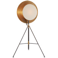 Thomas OBrien Osiris 75 inch 75 watt Bronze and Hand-Rubbed Antique Brass Studio Floor Lamp Portable Light, Tripod Reflector