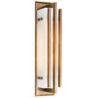 Visual Comfort Thomas OBrien Ted 2 Light Bath Wall Light in Hand-Rubbed Antique Brass TOB2006HAB