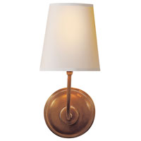 Visual Comfort Thomas OBrien Vendome 1 Light Decorative Wall Light in Hand-Rubbed Antique Brass TOB2007HAB-NP