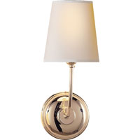 Visual Comfort Thomas OBrien Vendome 1 Light Decorative Wall Light in Polished Nickel TOB2007PN-NP