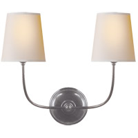 Visual Comfort TOB2008AS-NP Thomas O'Brien Vendome 2 Light 18 inch Antique Silver Decorative Wall Light