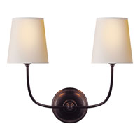 Visual Comfort Thomas OBrien Vendome 2 Light Decorative Wall Light in Bronze with Wax TOB2008BZ-NP