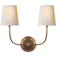 Visual Comfort TOB2008HAB-NP Thomas O'Brien Vendome 2 Light 18 inch Hand-Rubbed Antique Brass Decorative Wall Light