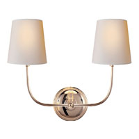 Visual Comfort Thomas OBrien Vendome 2 Light Decorative Wall Light in Polished Nickel TOB2008PN-NP