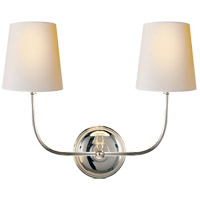 Visual Comfort TOB2008PN-NP Thomas O'Brien Vendome 2 Light 18 inch Polished Nickel Decorative Wall Light