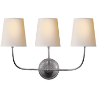 Visual Comfort TOB2009AS-NP Thomas O'Brien Vendome 3 Light 22 inch Antique Silver Decorative Wall Light