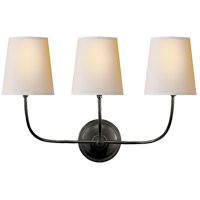 Visual Comfort TOB2009BZ-NP Thomas Obrien Vendome 3 Light 22 inch Bronze Decorative Wall Light