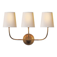 Visual Comfort Thomas OBrien Vendome 3 Light Decorative Wall Light in Hand-Rubbed Antique Brass TOB2009HAB-NP
