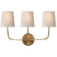 Visual Comfort TOB2009HAB-NP Thomas O'Brien Vendome 3 Light 22 inch Hand-Rubbed Antique Brass Decorative Wall Light