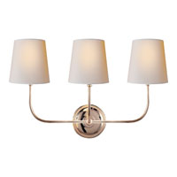 Visual Comfort Thomas OBrien Vendome 3 Light Decorative Wall Light in Polished Nickel TOB2009PN-NP