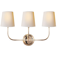 Visual Comfort TOB2009PN-NP Thomas O'Brien Vendome 3 Light 22 inch Polished Nickel Decorative Wall Light