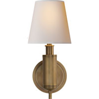 Visual Comfort Thomas OBrien Longacre 1 Light Decorative Wall Light in Hand-Rubbed Antique Brass TOB2010HAB-NP