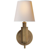 Visual Comfort TOB2010HAB-NP Thomas Obrien Longacre 1 Light 6 inch Hand-Rubbed Antique Brass Decorative Wall Light