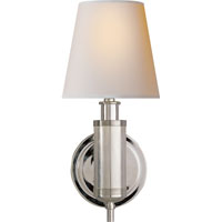 Visual Comfort Thomas OBrien Longacre 1 Light Decorative Wall Light in Polished Nickel TOB2010PN-NP