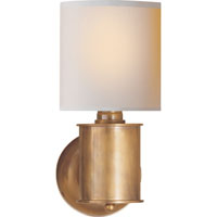 Visual Comfort TOB2011HAB-NP Thomas OBrien Metropolitan 1 Light 6 inch Hand-Rubbed Antique Brass Wall Sconce Wall Light in Natural Paper